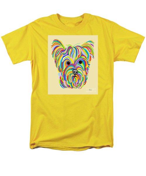 Yorkshire Terrier ... Yorkie Men's T-Shirt  (Regular Fit) by Eloise Schneider