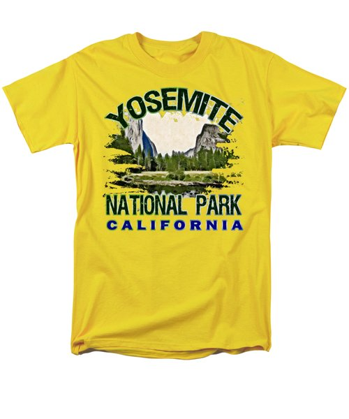Yosemite National Park Men's T-Shirt  (Regular Fit) by David G Paul