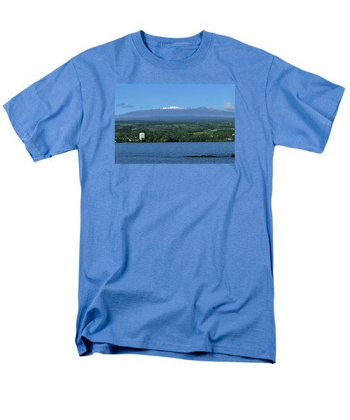 Hawaii's Snow Above Hilo Bay Hawaii Men's T-Shirt  (Regular Fit) by Lehua Pekelo-Stearns
