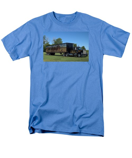 Smokey And The Bandit Tribute 1973 Kenworth W900 Black And Gold Semi Truck Men's T-Shirt  (Regular Fit) by Tim McCullough