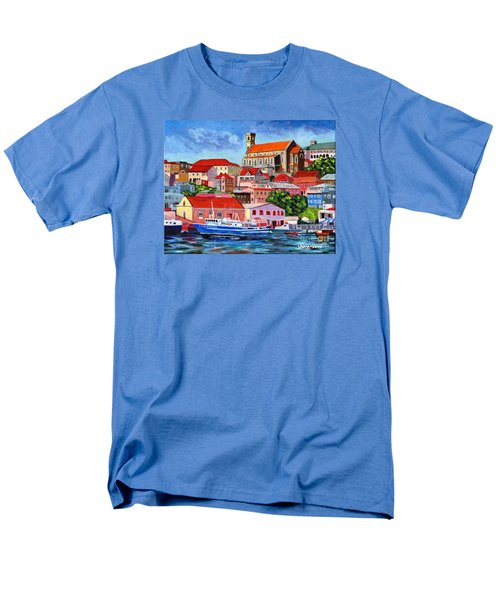A View Of The Carenage Men's T-Shirt  (Regular Fit) by Laura Forde