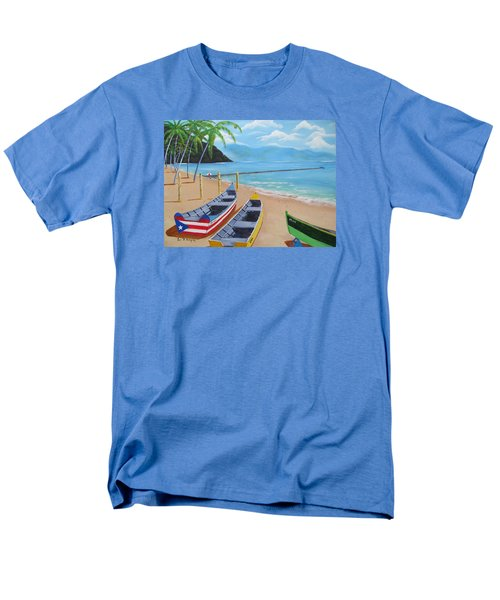 Aguadilla Crashboat Beach Men's T-Shirt  (Regular Fit) by Luis F Rodriguez