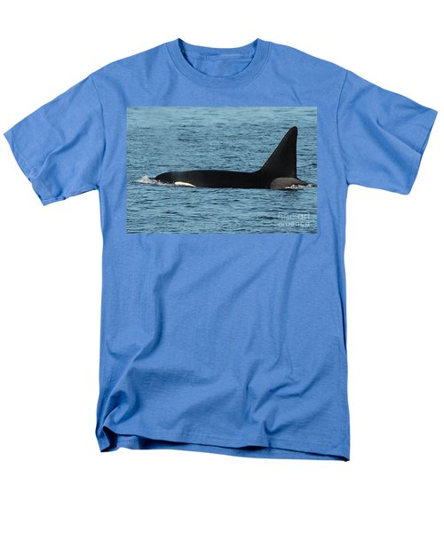 Men's T-Shirt  (Regular Fit) featuring the photograph Male Orca Killer Whale In Monterey Bay California 2013 by California Views Mr Pat Hathaway Archives