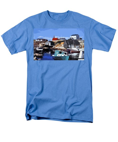 Peggy's Cove Men's T-Shirt  (Regular Fit) by Lydia Holly