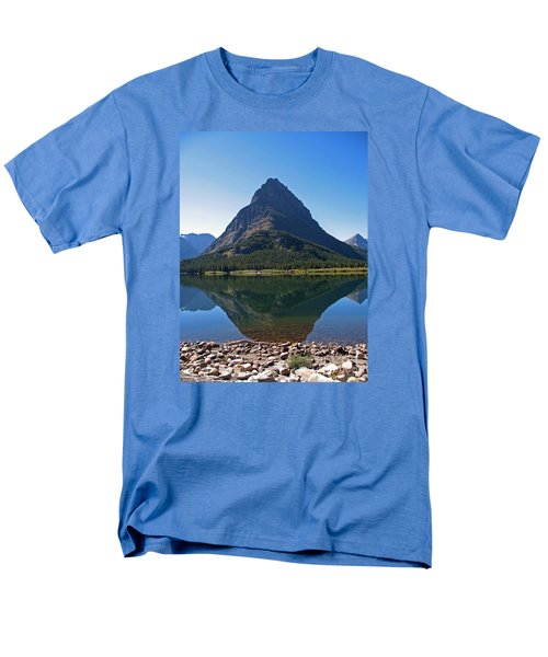 Men's T-Shirt  (Regular Fit) featuring the photograph Swiftcurrent  Lake Many Glacier by Joseph J Stevens