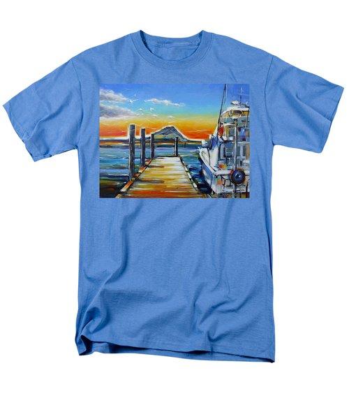 Men's T-Shirt  (Regular Fit) featuring the painting Tauranga Marina 180412 by Selena Boron