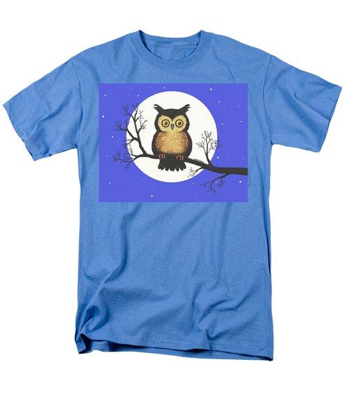 Whooo You Lookin' At Men's T-Shirt  (Regular Fit) by Sophia Schmierer