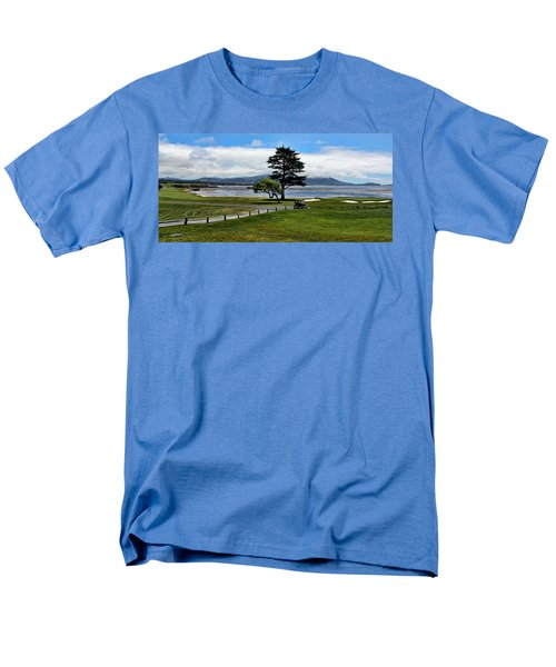 18th At Pebble Beach Panorama Men's T-Shirt  (Regular Fit) by Judy Vincent