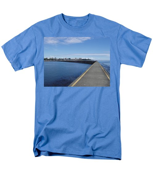 Men's T-Shirt  (Regular Fit) featuring the photograph Along The Breakwater by Marilyn Wilson