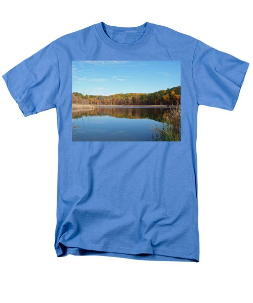 Men's T-Shirt  (Regular Fit) featuring the photograph Autumn Pond by Aimee L Maher Photography and Art Visit ALMGallerydotcom