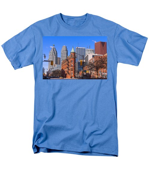 Flatiron Building In Toronto Men's T-Shirt  (Regular Fit) by Les Palenik