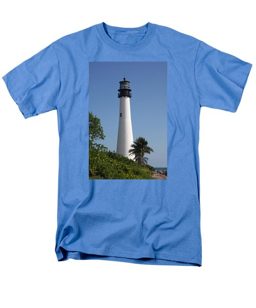 Ligthouse - Key Biscayne Men's T-Shirt  (Regular Fit) by Christiane Schulze Art And Photography