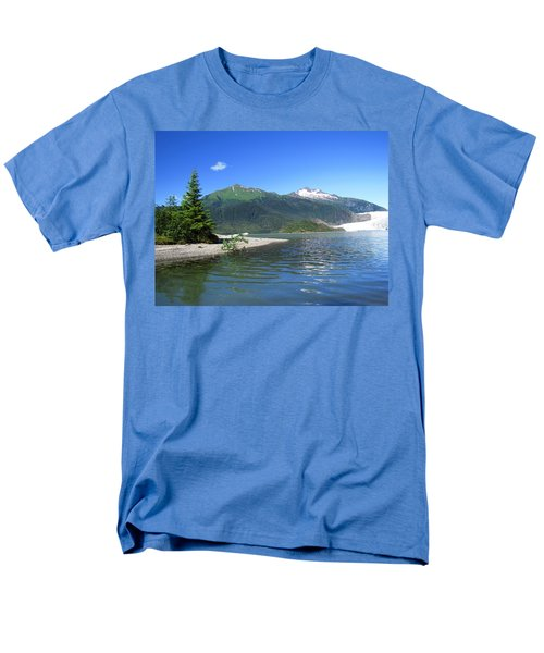 Men's T-Shirt  (Regular Fit) featuring the photograph Mendenhall Glacier by Jennifer Wheatley Wolf