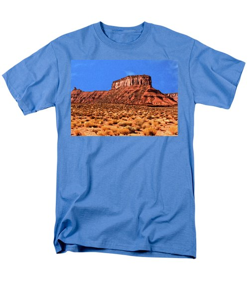 Men's T-Shirt  (Regular Fit) featuring the painting National Navajo Tribal Park by Bob and Nadine Johnston