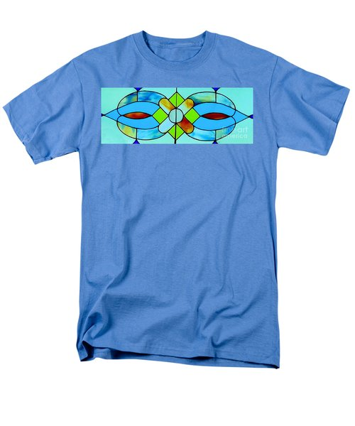 Men's T-Shirt  (Regular Fit) featuring the photograph Stained Glass Window by Janette Boyd