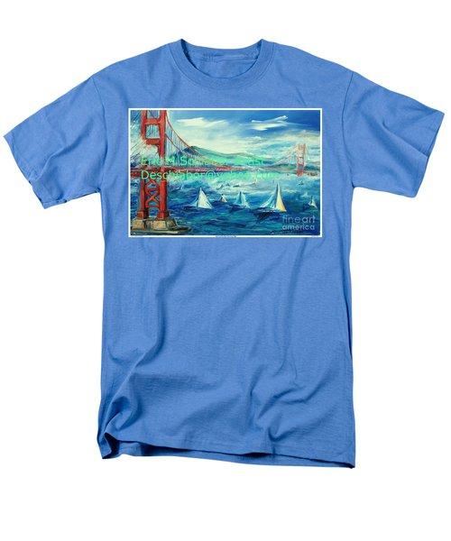 San Francisco Golden Gate Bridge Men's T-Shirt  (Regular Fit) by Eric  Schiabor