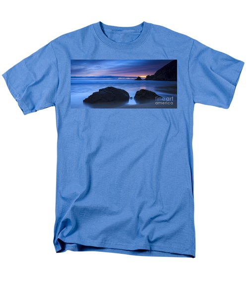 Men's T-Shirt  (Regular Fit) featuring the photograph Campelo Beach Galicia Spain by Pablo Avanzini