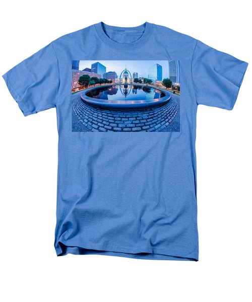 St. Louis Downtown Skyline Buildings At Night Men's T-Shirt  (Regular Fit) by Alex Grichenko