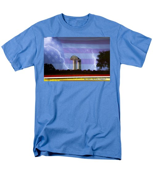 9-11 We Will Never Forget 2011 Poster Men's T-Shirt  (Regular Fit)