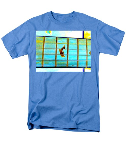 A Dolphin On A Guitar Ocean Men's T-Shirt  (Regular Fit)