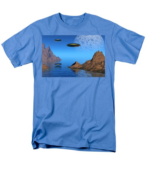 Men's T-Shirt  (Regular Fit) featuring the digital art A Great Day For Flying by Lyle Hatch