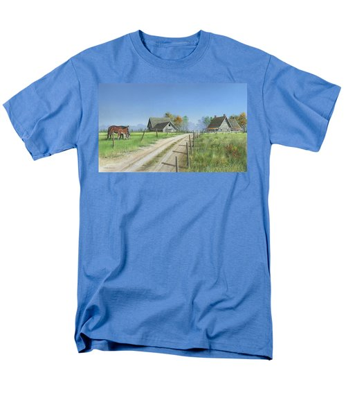 Men's T-Shirt  (Regular Fit) featuring the painting A New Beginning by Mike Brown