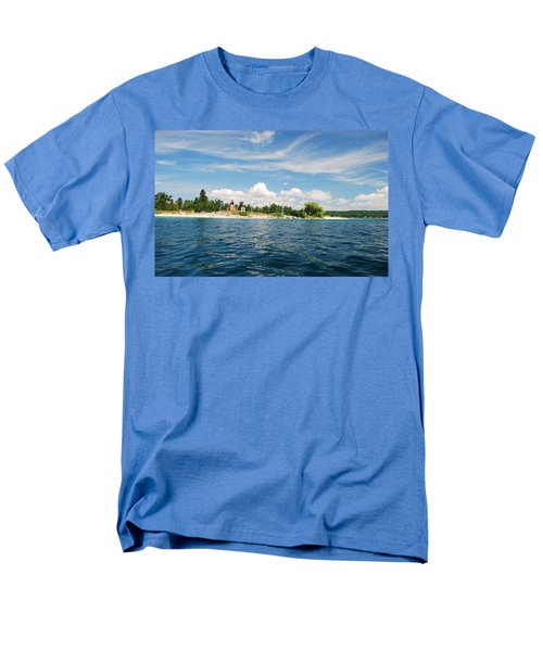 Men's T-Shirt  (Regular Fit) featuring the photograph Across The Bay To The Light by Janice Adomeit