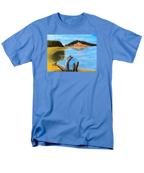 Men's T-Shirt  (Regular Fit) featuring the painting Allonah Beach Tasmania by Pamela  Meredith