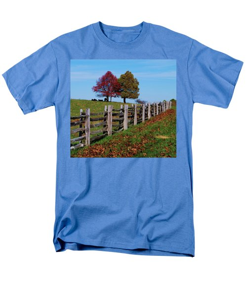 Along The Fence Men's T-Shirt  (Regular Fit) by Eric Liller