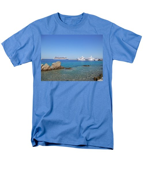 Anchored Ships Men's T-Shirt  (Regular Fit) by Pema Hou