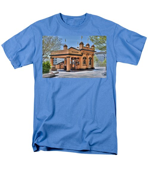 Angels Flight Landmark Funicular Railway Bunker Hill Men's T-Shirt  (Regular Fit) by David Zanzinger
