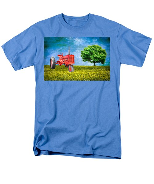 Antique Farmall Tractor Men's T-Shirt  (Regular Fit) by Fred Larson