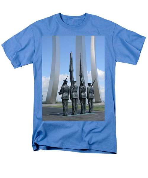 Men's T-Shirt  (Regular Fit) featuring the photograph At Attention by Jean Goodwin Brooks