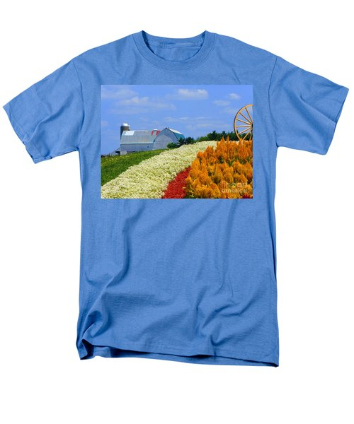 Barn And Quilt Garden Men's T-Shirt  (Regular Fit) by Tina M Wenger