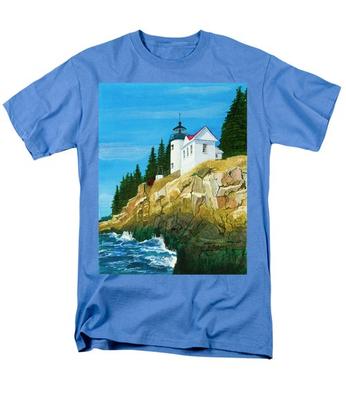 Bass Harbor Lighthouse Men's T-Shirt  (Regular Fit) by Mike Robles