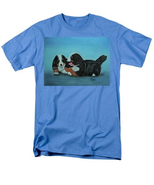 Bernese Mountain Puppies Men's T-Shirt  (Regular Fit) by Thomas J Herring