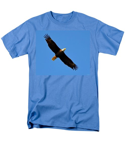 Best Bald Eagle On Blue Men's T-Shirt  (Regular Fit) by Jeff at JSJ Photography