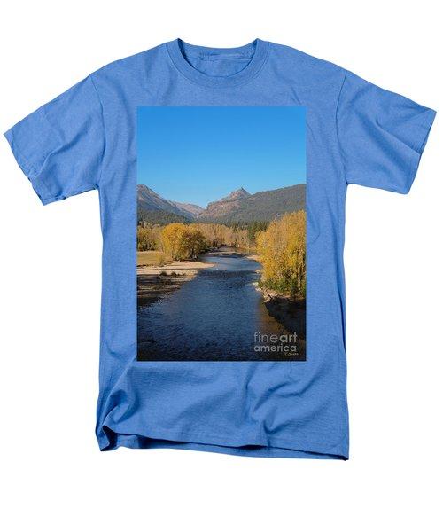 Men's T-Shirt  (Regular Fit) featuring the photograph Bitterroot River Fall by Joseph J Stevens