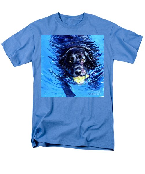 Black Lab  Blue Wake Men's T-Shirt  (Regular Fit) by Molly Poole