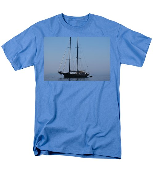 Black Ship Men's T-Shirt  (Regular Fit) by George Katechis