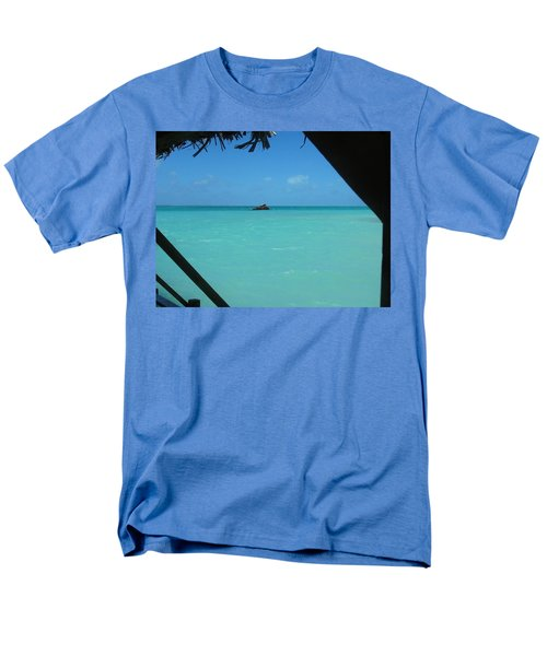 Men's T-Shirt  (Regular Fit) featuring the photograph Blue And Green by Photographic Arts And Design Studio
