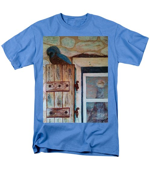 Men's T-Shirt  (Regular Fit) featuring the painting Blue Bird by Jasna Gopic