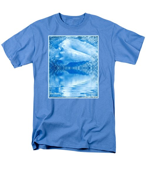Men's T-Shirt  (Regular Fit) featuring the mixed media Blue Healing by Ray Tapajna
