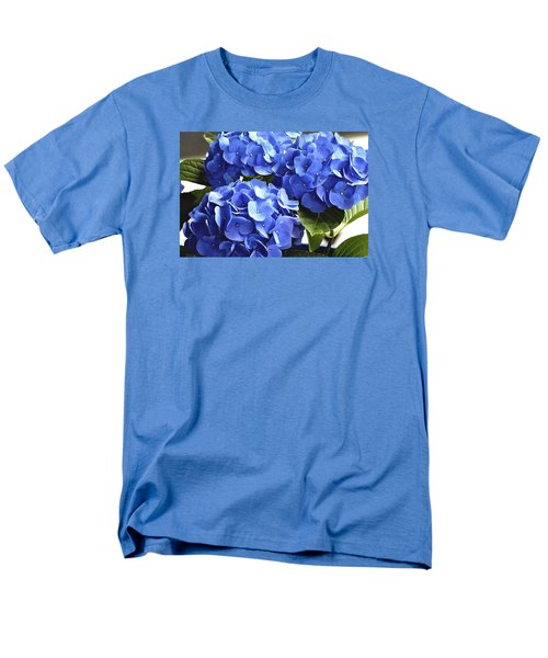 Blue Hydrangea Men's T-Shirt  (Regular Fit) by Lehua Pekelo-Stearns