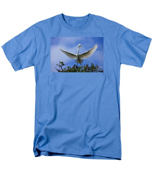 Men's T-Shirt  (Regular Fit) featuring the photograph Blue Sky Landing by John F Tsumas
