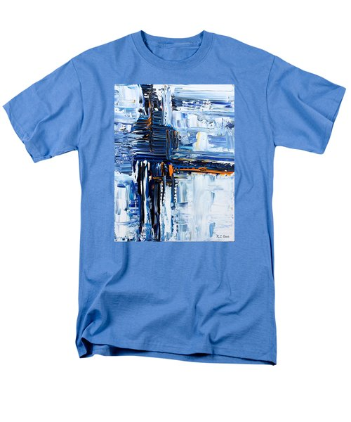 Men's T-Shirt  (Regular Fit) featuring the painting Blue Thunder by Rebecca Davis