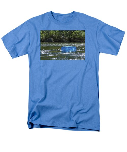 Blue Floaty - Inner Tube On The River Men's T-Shirt  (Regular Fit) by Jane Eleanor Nicholas