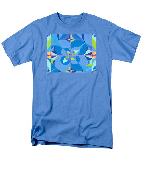 Men's T-Shirt  (Regular Fit) featuring the drawing Blue Unity by Kim Sy Ok