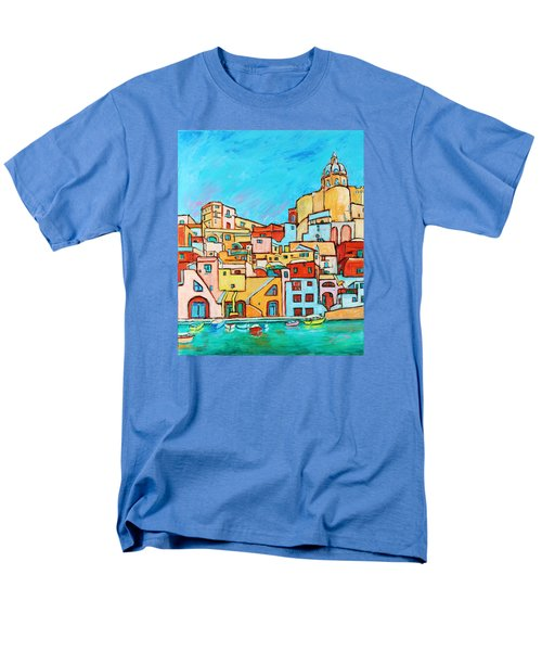 Boats In Front Of The Buildings Vii Men's T-Shirt  (Regular Fit)