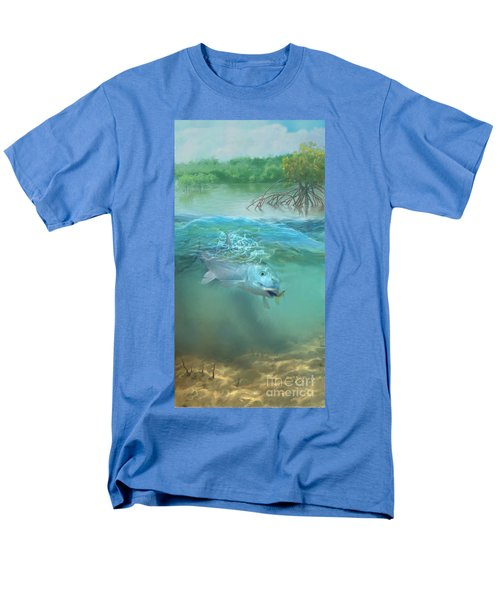 Men's T-Shirt  (Regular Fit) featuring the painting Bone Fish by Rob Corsetti
